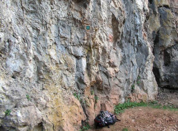 Climbing QR-code at Vadu Crisului - Romania